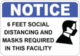 6 Feet Social Distancing Required in This Facility