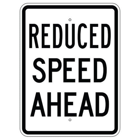 Reduced Speed Ahead - Sign Wise