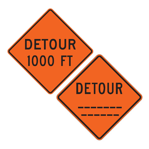 Detour (custom) Feet W20-2 - Sign Wise