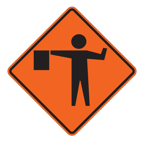 Flagger Ahead W20-7 - Sign Wise
