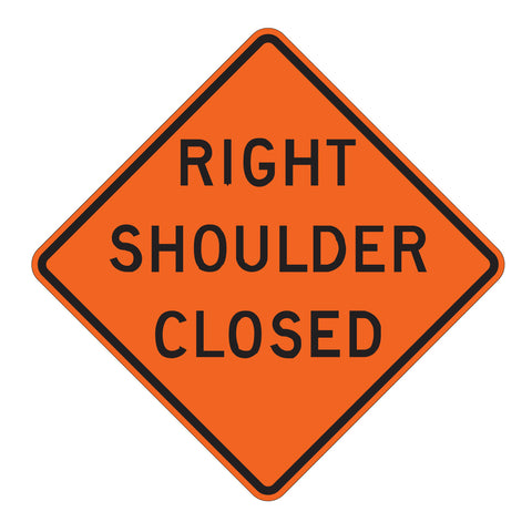 Right/Left Shoulder Closed W21-5A - Sign Wise