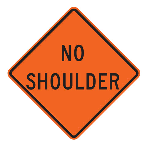 No Shoulder W8-23 - Sign Wise