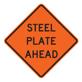 Steel Plate Ahead W8-24 - Sign Wise