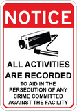 All Activities Are Recorded - Sign Wise