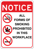 All Forms of Smoking Prohibited - Sign Wise