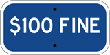 $100 Fine Blue - Sign Wise