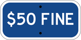 $50 Fine Blue - Sign Wise