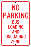 Bus Loading and Unloading Zone - Sign Wise