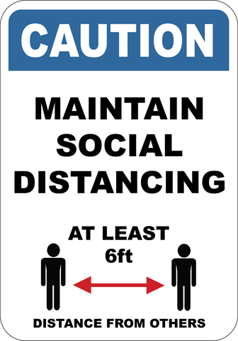 Maintain Social Distancing - Sign Wise