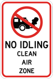 No Idling Clean Air Zone - Sign Wise