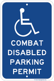 Combat Disabled Parking Permit - Sign Wise