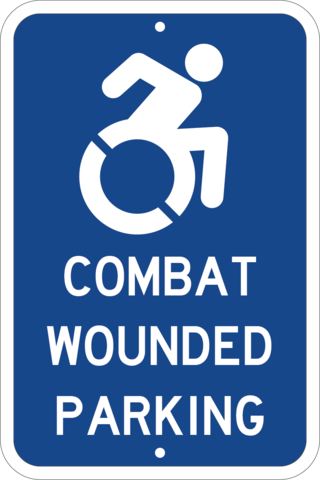 Combat Wounded Veteran Parking - Sign Wise