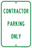 Contractor Parking Only - Sign Wise