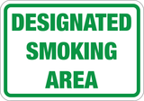 Designated Smoking Area - Sign Wise