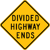 Divided Highway Ends - Sign Wise