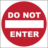 Do Not Enter - Sign Wise