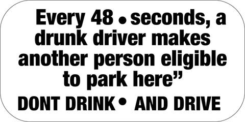 Don't Drink and Drive - Sign Wise
