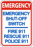 Emergency Shut Off Switch - 911