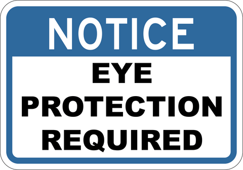 Eye Protection Required - Sign Wise