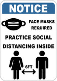 Face Masks Required Practice Social Distancing