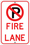 No Parking Fire Lane - Sign Wise