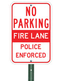 Fire Lane - Police Enforced - Sign Wise
