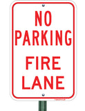 "No Parking - Fire Lane 12""x18"" - Sign Wise"