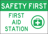 First Aid Station Decal 7x10 - 2 per package - Sign Wise