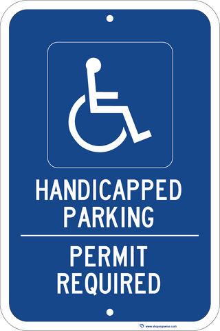 Handicapped Parking - Permit Required - Sign Wise