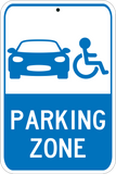 Blue Parking Zone - Sign Wise