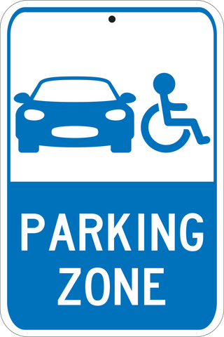 ADA Accessible Parking Zone - Sign Wise