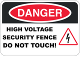 High Voltage Security Fence
