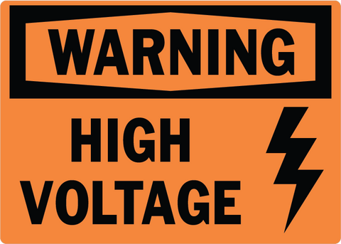 High Voltage with Symbol - Sign Wise