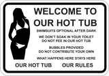 Welcome To Our Hot Tub Rules