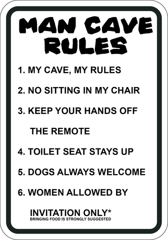 Man Cave Rules - Sign Wise