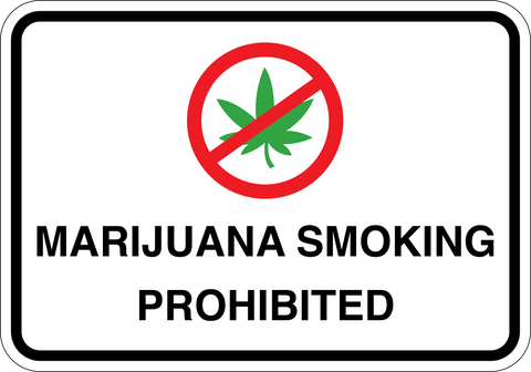 Marijuana Smoking Prohibited - Sign Wise