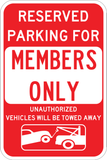 Members Only Parking