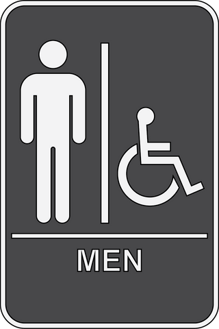 Mens Restroom Sign ADA - Sign Wise