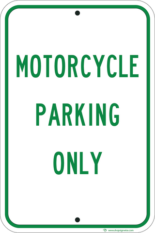 Motorcycle Parking Only - Sign Wise