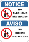 No Alcoholic Beverages English/Spanish
