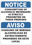 Consumption of Alcoholic Beverages Prohibited English/Spanish