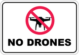 No Drones - Sign Wise