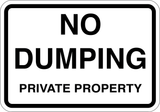 No Dumping Private Property