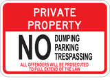 Private Property No Dumping Parking Trespassing