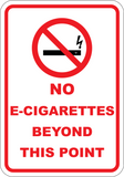No Electronic Cigarette Beyond This Point