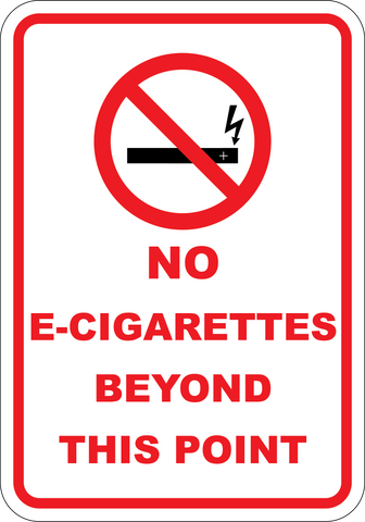 No Electronic Cigarette Beyond This Point - Sign Wise