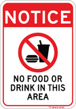 No Food Or Drink - Sign Wise