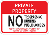 No Trespassing Hunting Public Access