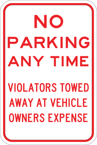 Towed Sign