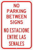 No Parking Between Signs English/Spanish - Sign Wise